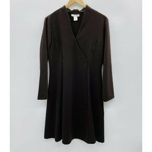 NorthStyle Medium Long Sleeve Faux Wrap Dress